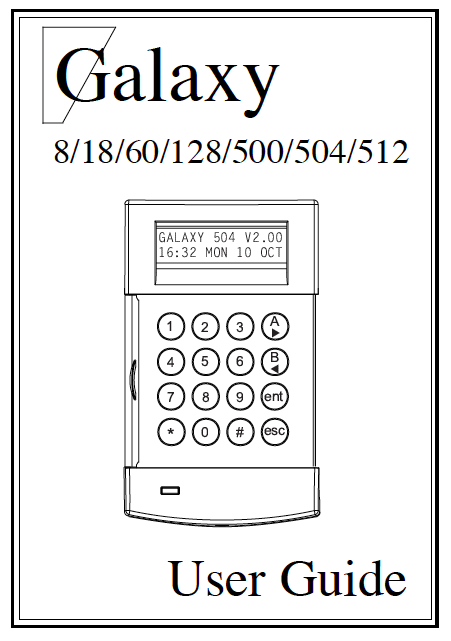 Honeywell Galaxy 8 18 60 128 500 User Manual
