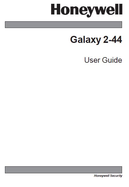 Honeywell Galaxy G2 User Manual