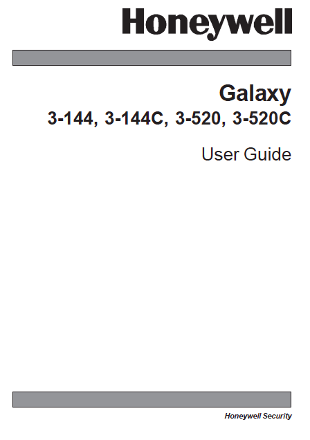 Honeywell Galaxy G3 User Manual