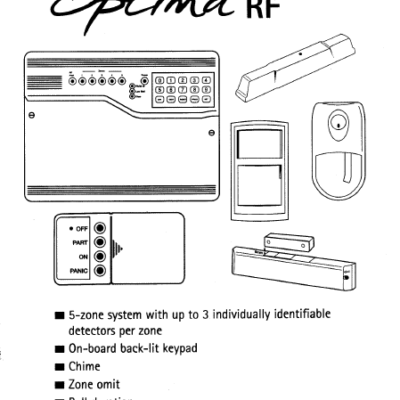 Optima RF User Manual