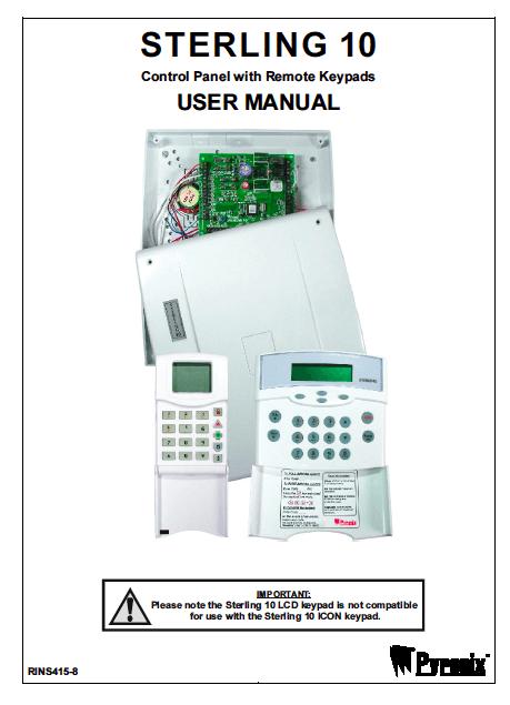 Pyronix Sterling 10 User Manual
