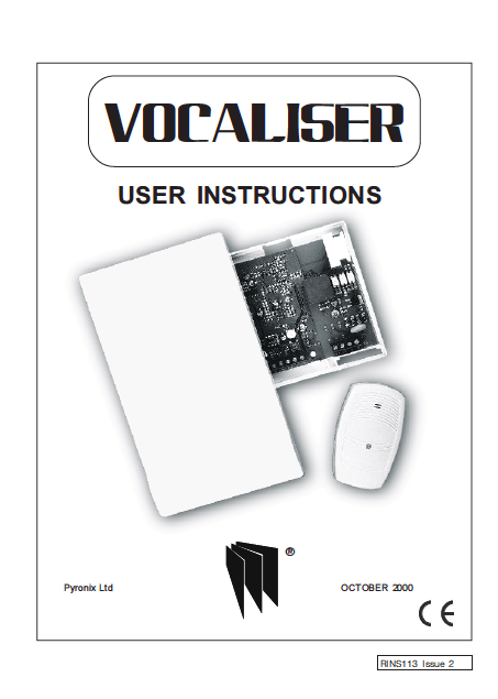 Pyronix Sterling Vocaliser User Manual