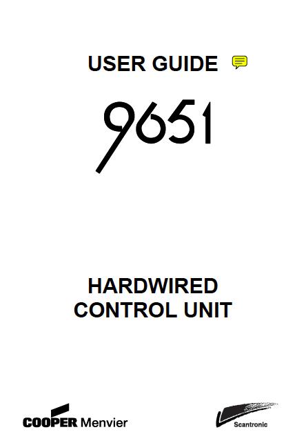 Scantronic 9651 User Manual