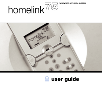 Scantronic 7500 Homelink User Manual