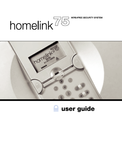 Scantronic Homelink 75 User Manual
