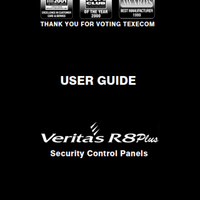 Texecom Veritas R8 User Manual